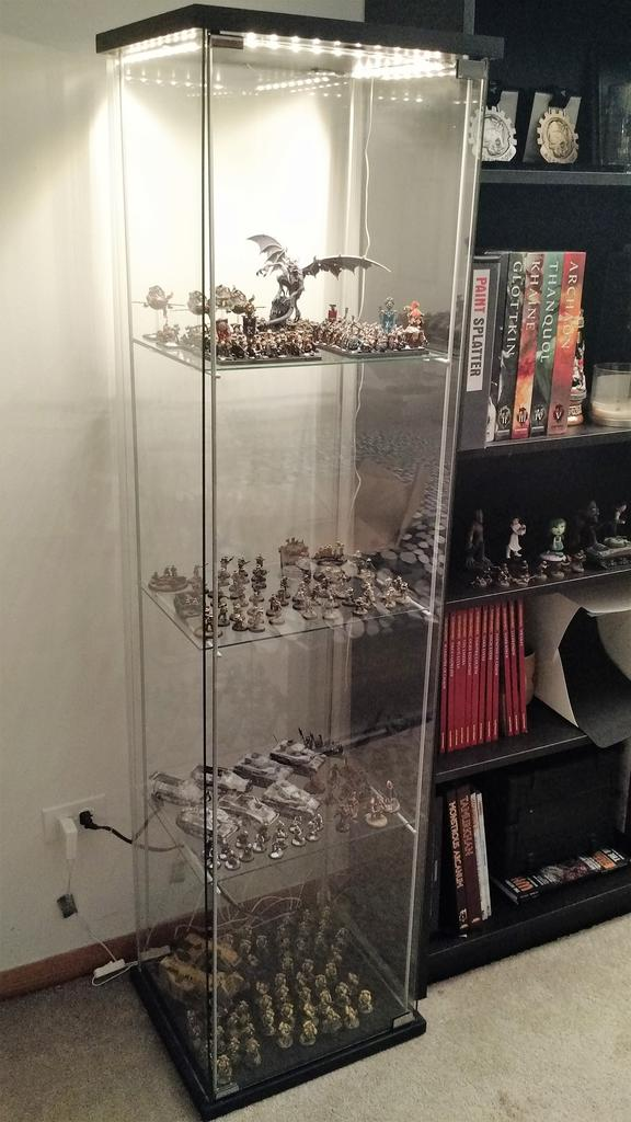 ikea detolf display case extra shelves upgrade chicago dice