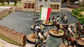 Italian cavalry moving into position.