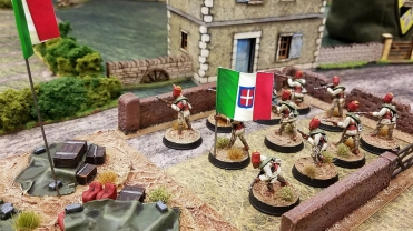 Colonial troops on the objective.