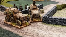 French armored carries moving in.