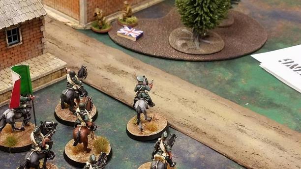 Italian cavalry changing the British.