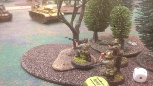 Marines sticking to cover.